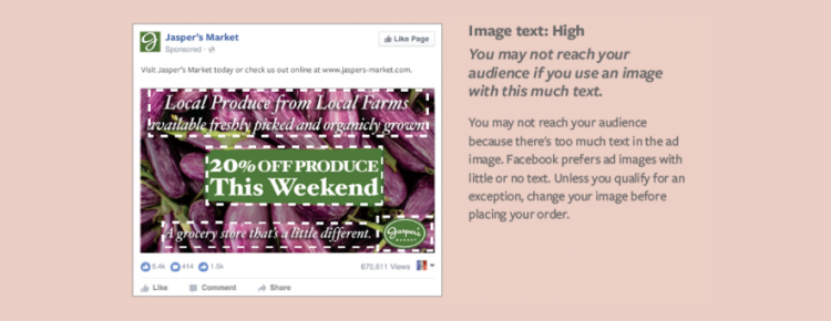 Facebook testira umik pravila največ 20 odstotkov besedila na sliki - Visoka stopnja - iPROM Mnenja strokovnjakov - Maja Nučič