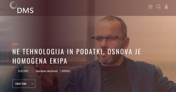 Simon Cetin v intervjuju za Društvo za marketing Slovenije – DMS: Ne tehnologija in podatki, osnova je homogena ekipa - iPROM - Mnenja strokovnjakov - Simon Cetin