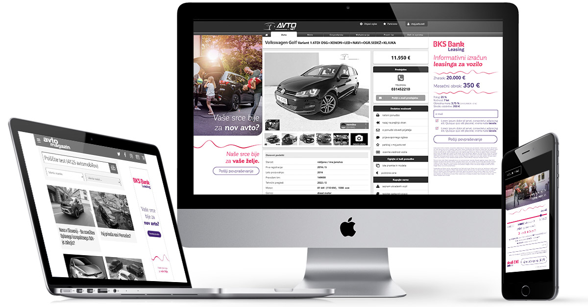 BKS Leasing z iPROMovo tehnološko rešitvijo Real-time Creative povečal prodajo avtomobilskih lizingov za 5 odstotkov - iPROM - Študije primerov